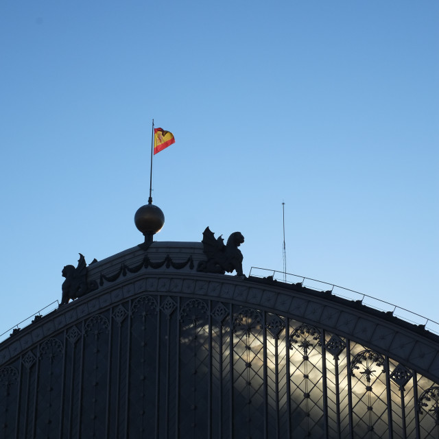 """Light through Madrid Train Station"" stock image"