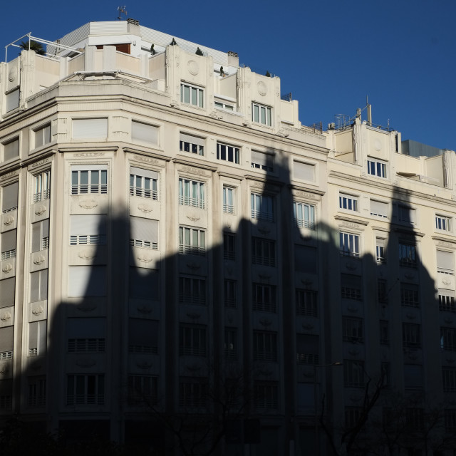 """Shadows in Madrid"" stock image"