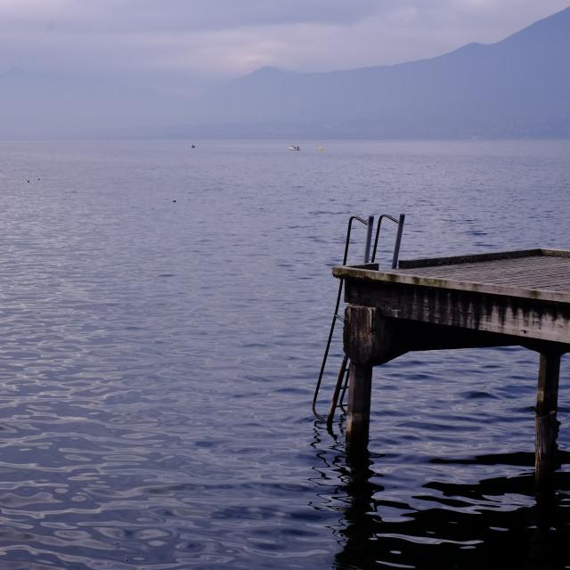 """""""Aix les Bains Lake 2"""" stock image"""