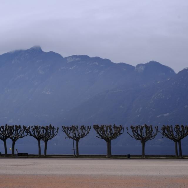 """""""Aix les Bains Lake"""" stock image"""