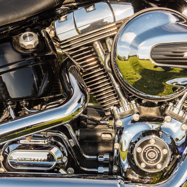 """Harley v twin"" stock image"