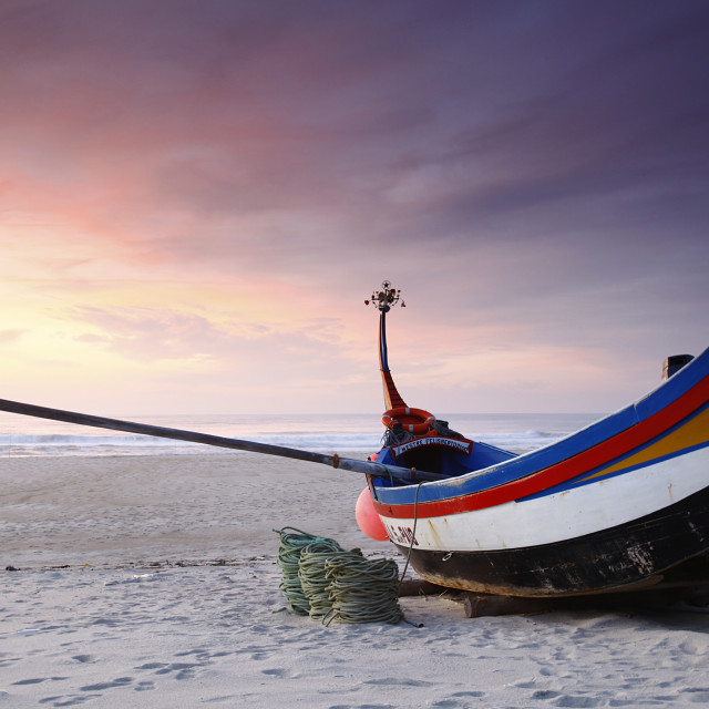 """Fishing boat in Portugal"" stock image"