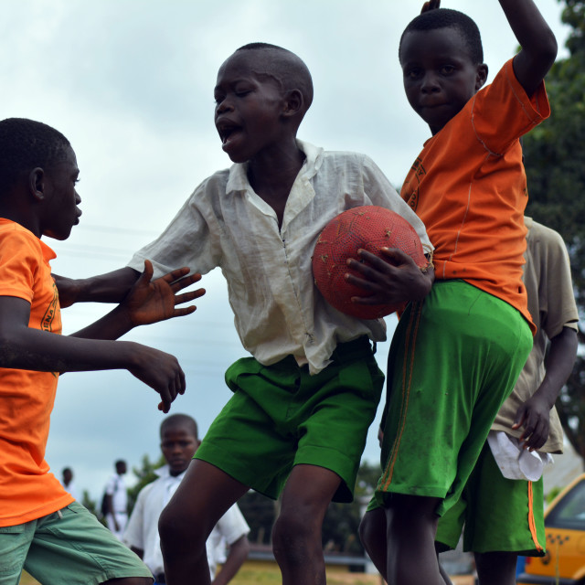 """""""Playing Football"""" stock image"""