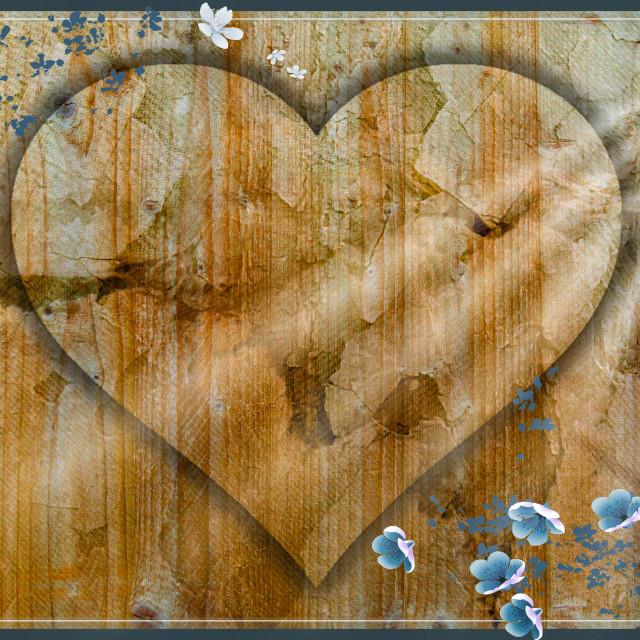 """Love Heart Wall Art"" stock image"
