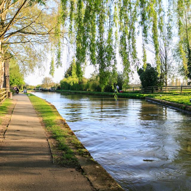 """Choppy Canal"" stock image"