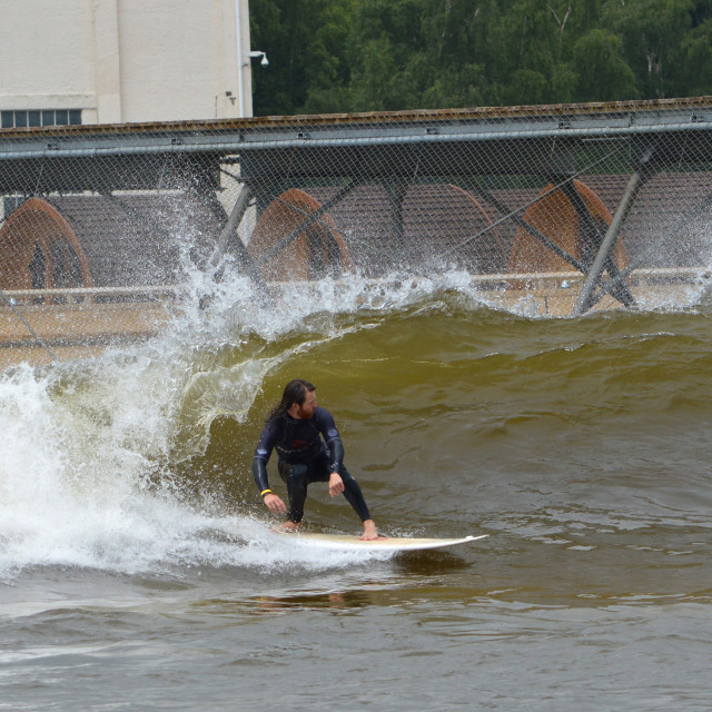 """Surf Snowdonia in Wales"" stock image"