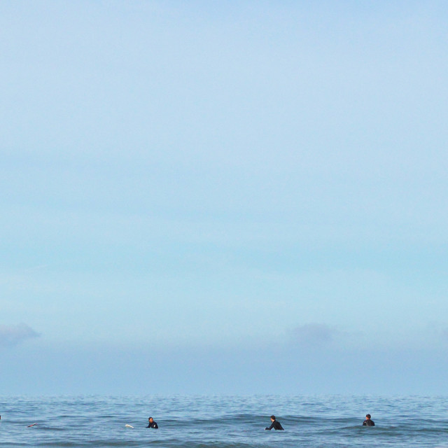 """Surfers Out Back At Woolacombe"" stock image"