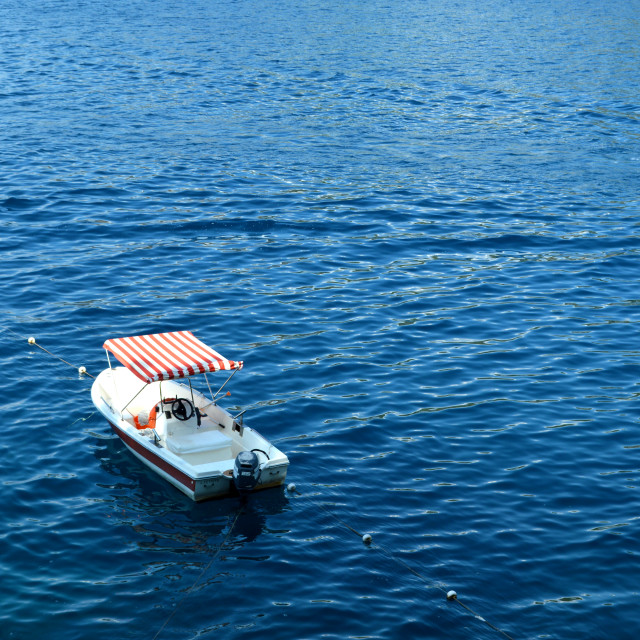 """Moored Boat in Turkey"" stock image"