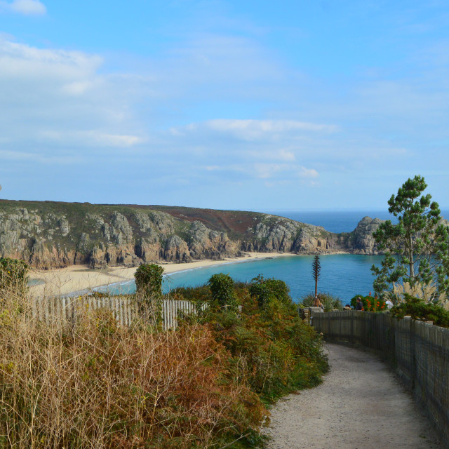 """Porthcurno Beach, Cornwall"" stock image"