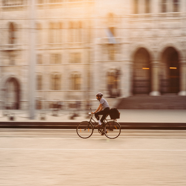 """Riding in Budapest"" stock image"