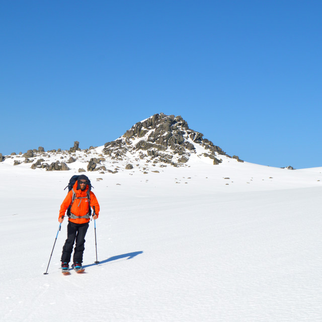 """Splitboarding in Australia"" stock image"