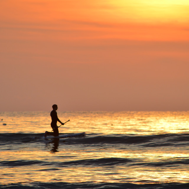 """SUPing in Woolacombe"" stock image"