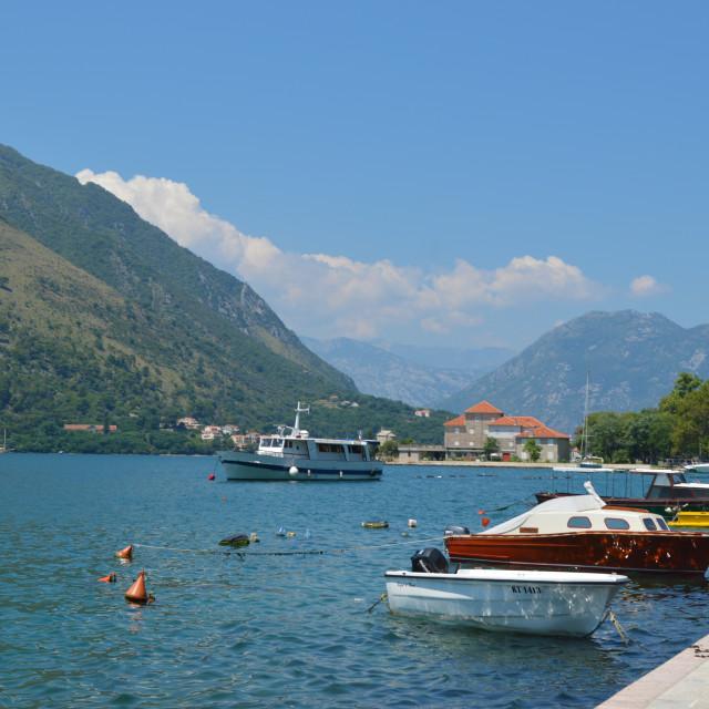 """""""Fjord, Kotor, Montenegro"""" stock image"""