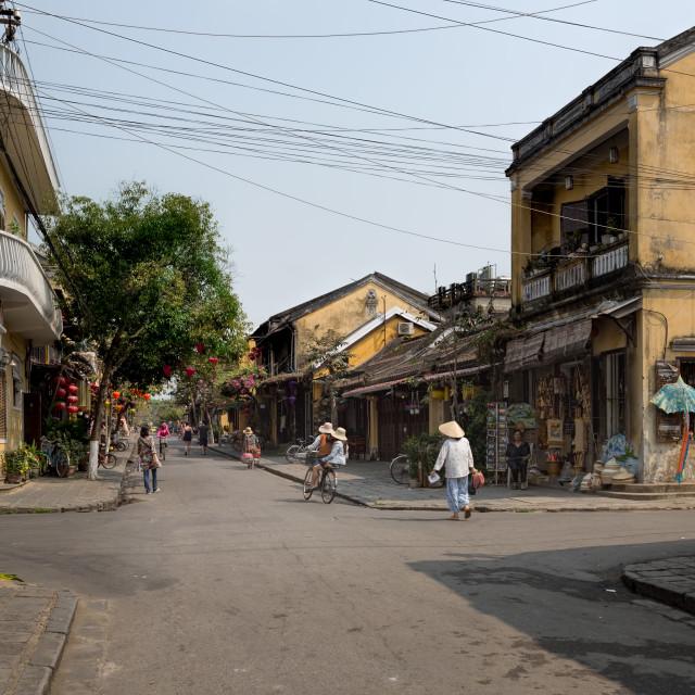 """Urban Street Scene Hoi An Vietnam"" stock image"