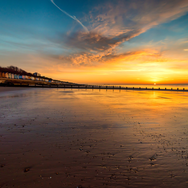 """Frinton Beach Sunrise"" stock image"