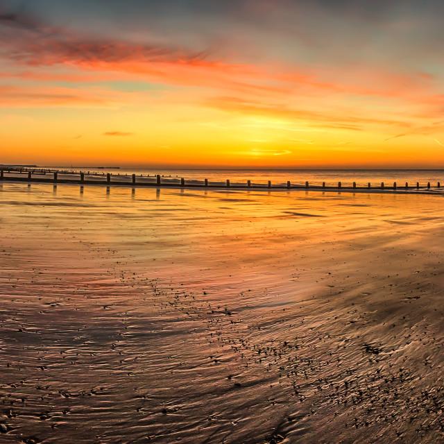 """Frinton Panorama Sunrise"" stock image"