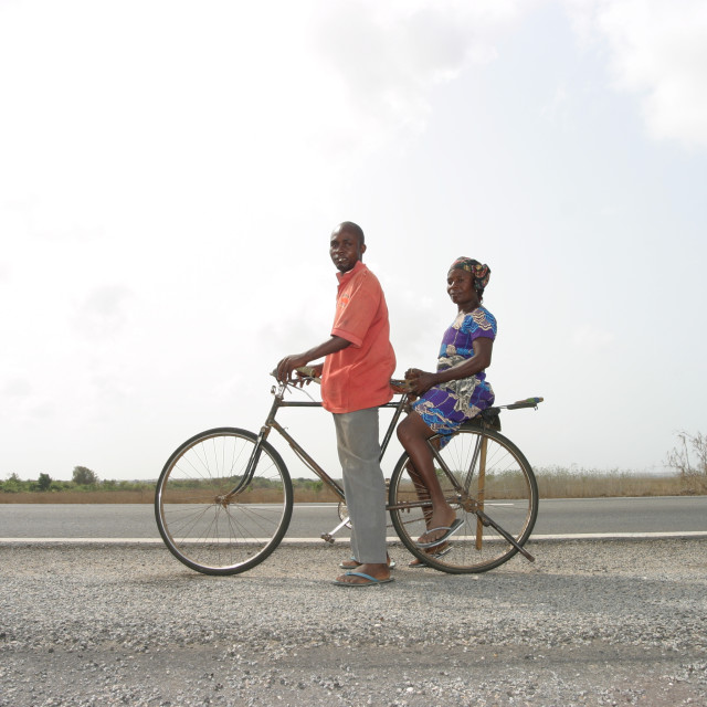 """""""On Your Bike -People"""" stock image"""