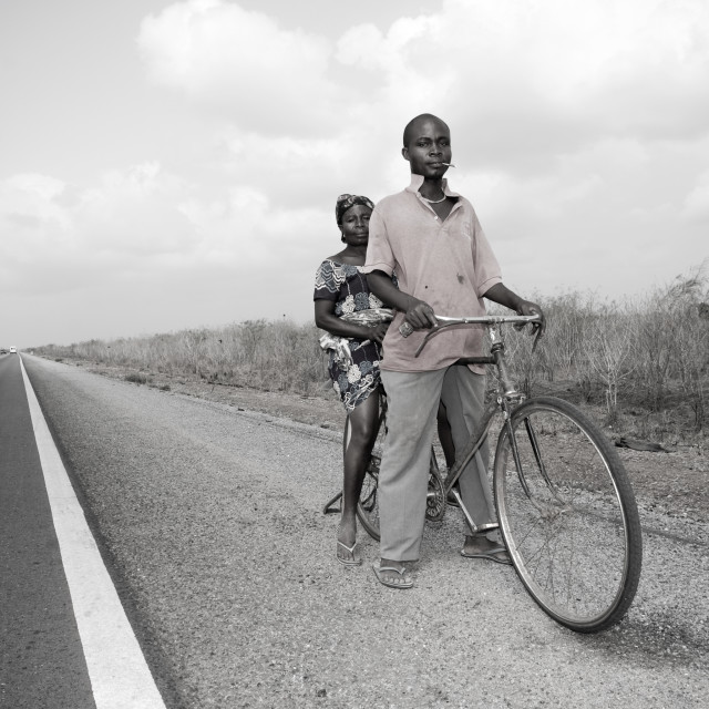 """""""On route to Togo -People"""" stock image"""