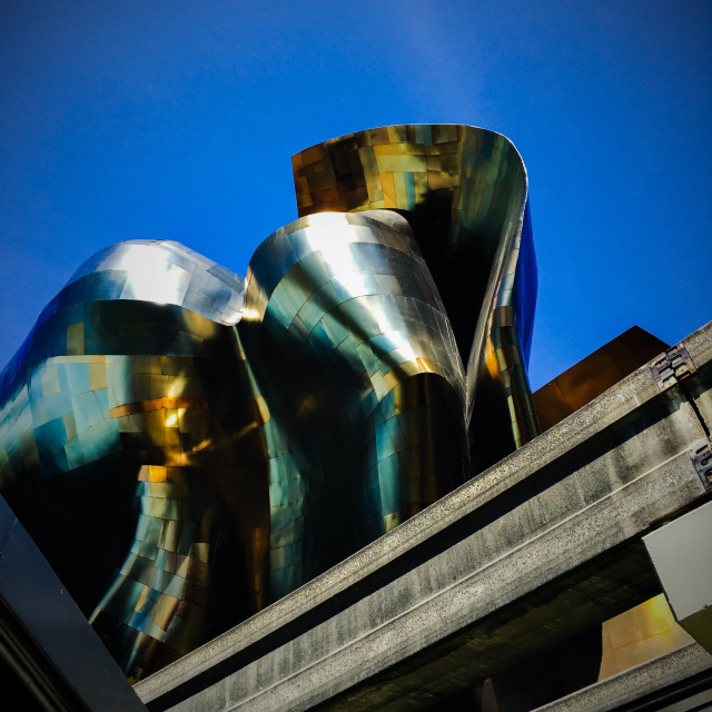 """EMP Museum, Seattle"" stock image"