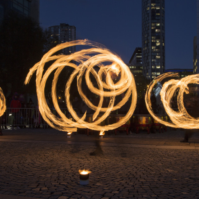 """Fire Spinning Performence"" stock image"