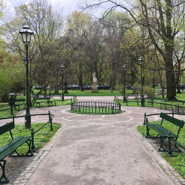 """Planty Park, Krakow"" stock image"