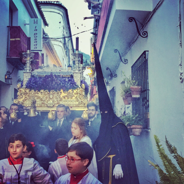 """Semana Santa procession, Benalmadena, Spain"" stock image"