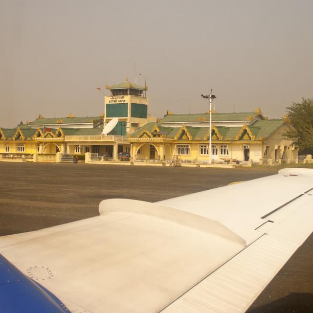 """Sittwe Airport Terminal"" stock image"