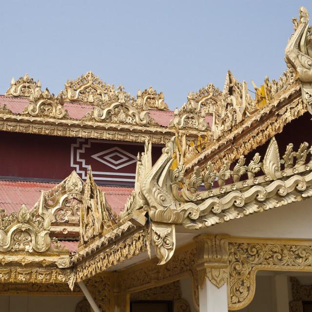 """""""Sittwe Alodawpyi Monastery"""" stock image"""