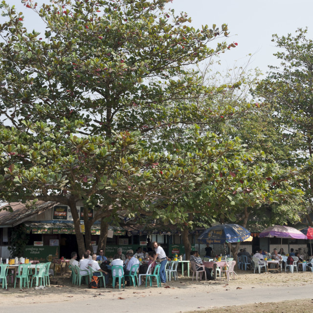 """Outdoor Terrace in Sittwe"" stock image"