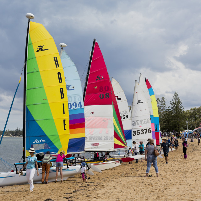 """Redcliffe Festival of Sails 2017"" stock image"