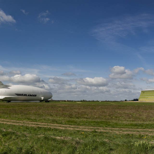 """Airlander 10 at Cardington Hangars"" stock image"