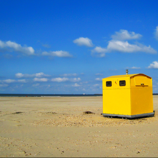 """Beach house in holland"" stock image"