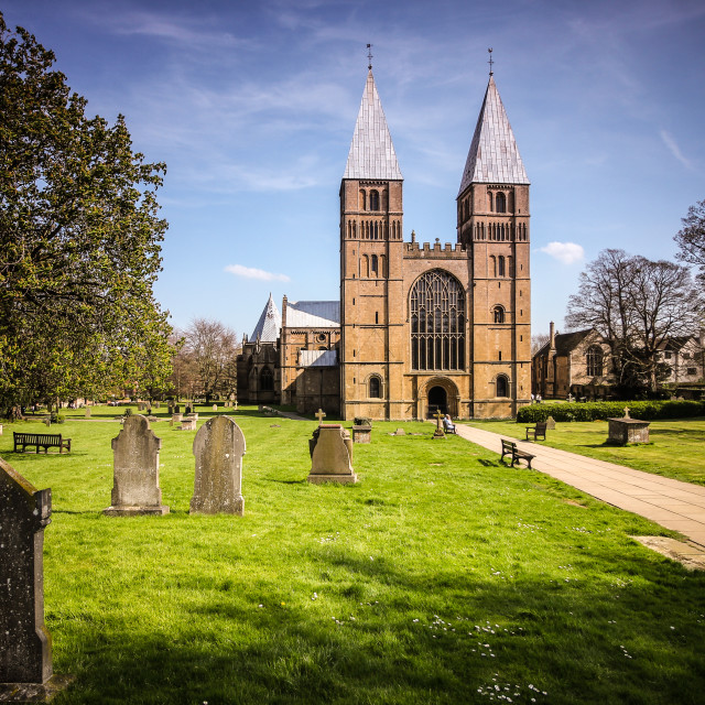 """Southwell Minster"" stock image"