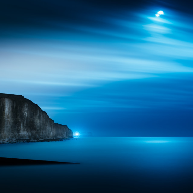 """peacehaven by moonlight"" stock image"