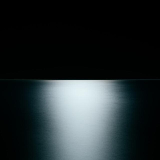 """moonlight on sea"" stock image"