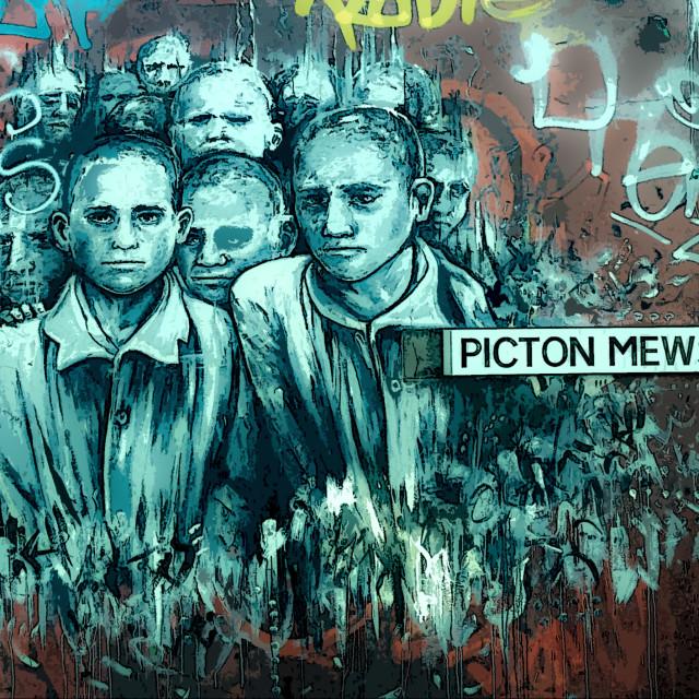 """Street art in Bristol"" stock image"