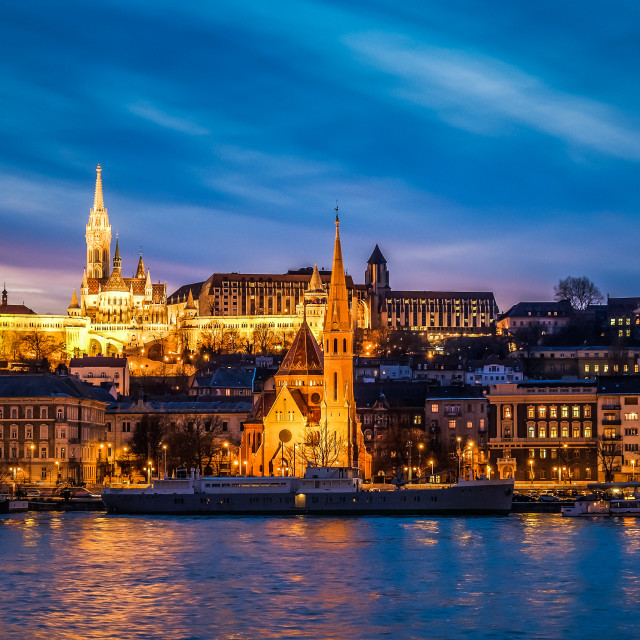 """Strange sunset in Budapest"" stock image"
