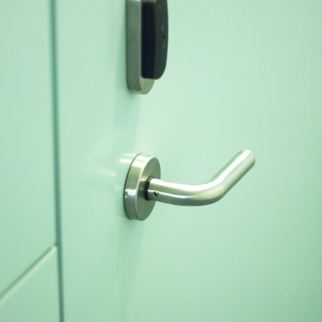 """""""Luxury hotel bedroom door"""" stock image"""
