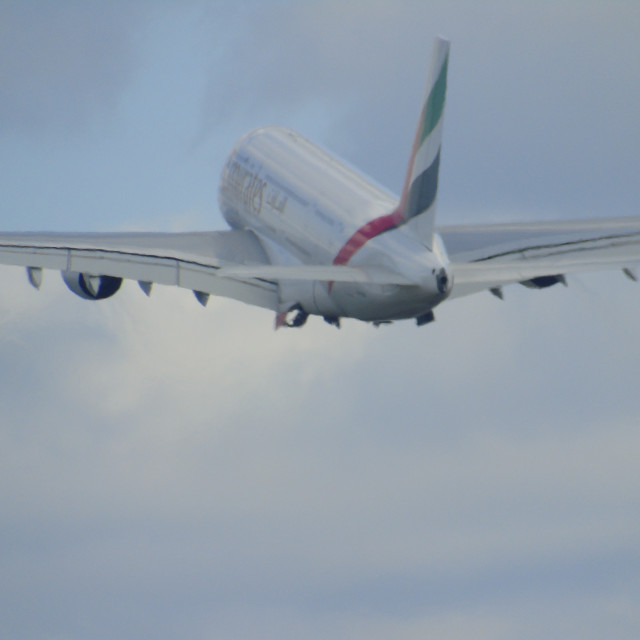 """Emirates A380"" stock image"