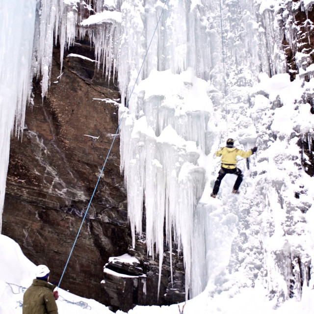 """""""ice-climbing in the arctic"""" stock image"""