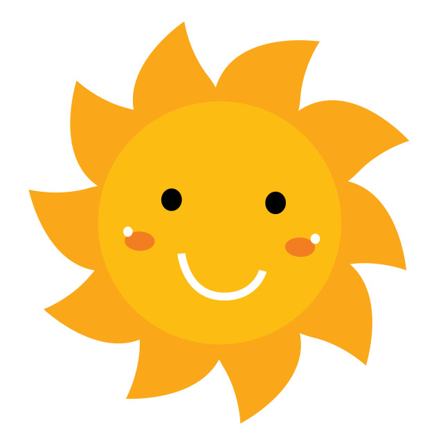 """""""Pretty smiling Sun clipart isolated on white"""" stock image"""
