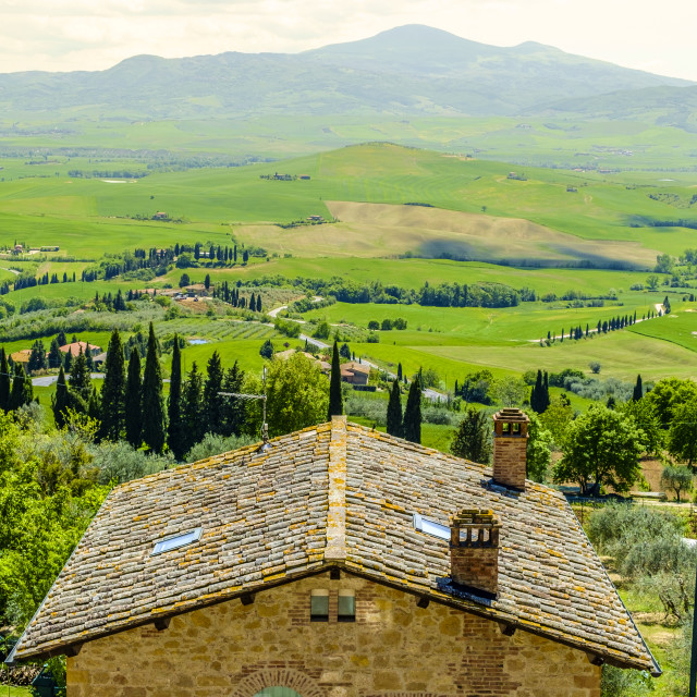 """View from Pienza across the countryside"" stock image"