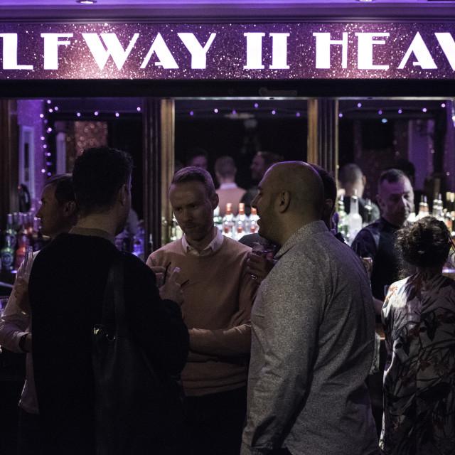 """Pride's got Talent Heat 4 at the Halfway2Heaven Pub, London"" stock image"