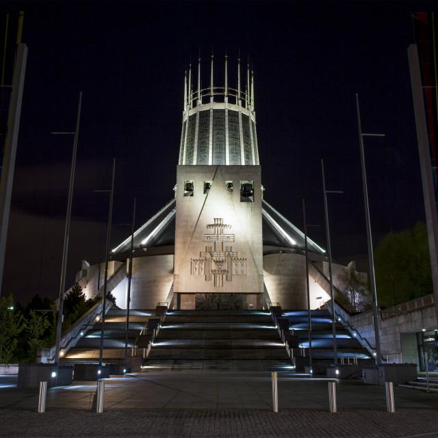 """Catholic Cathedral, Liverpool"" stock image"