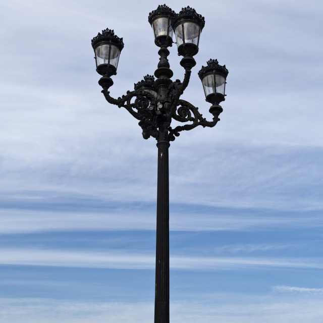 """Ponte de Lima – Street Lamp"" stock image"