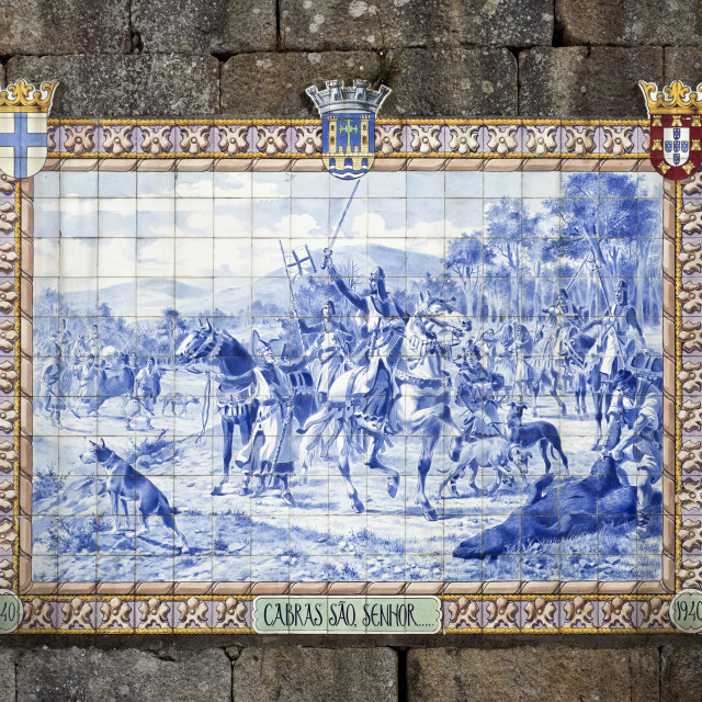 """Ponte de Lima – Tiles Panel"" stock image"