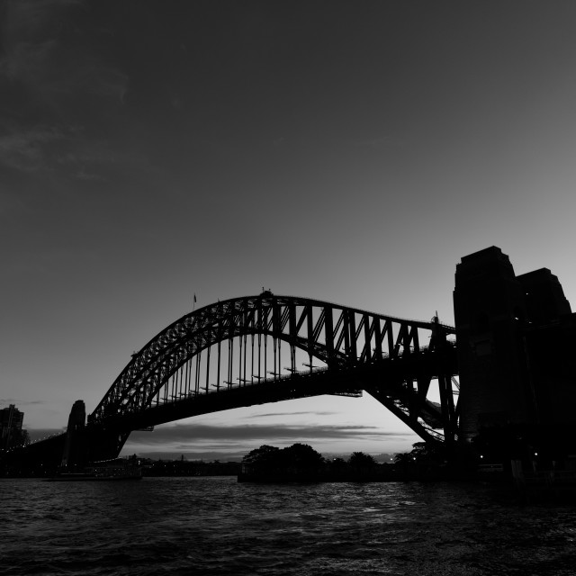 """Sydney Harbour Bridge at Dawn"" stock image"