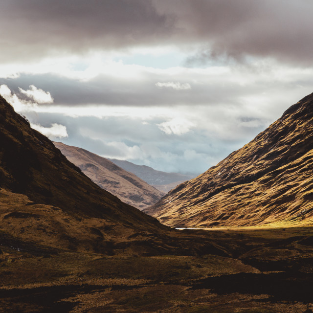 """Glencoe Valley Scotland. Scottish Highlands."" stock image"