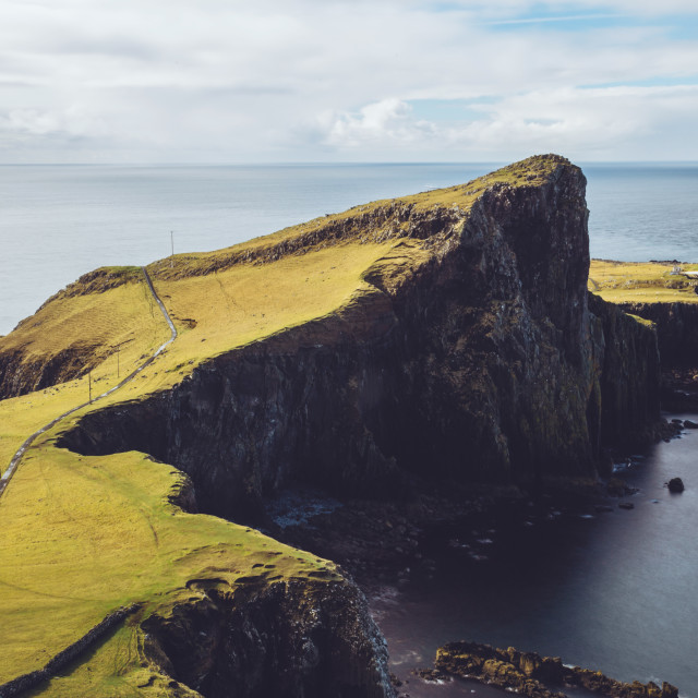 """Neist Point Lighthouse Isle of Skye Scotland"" stock image"