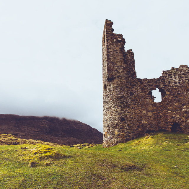 """Ardvreck Castle, Sutherland, Scotland. Scottish Highlands."" stock image"